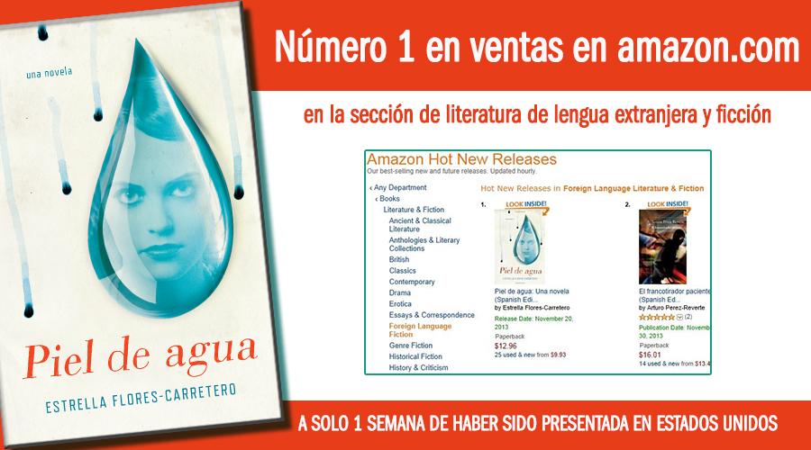 piel de agua número 1 en ventas en Amazon
