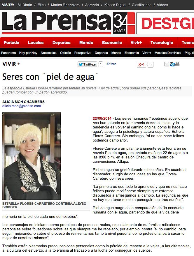 Estrellla Flores-Carretero diario La Prensa
